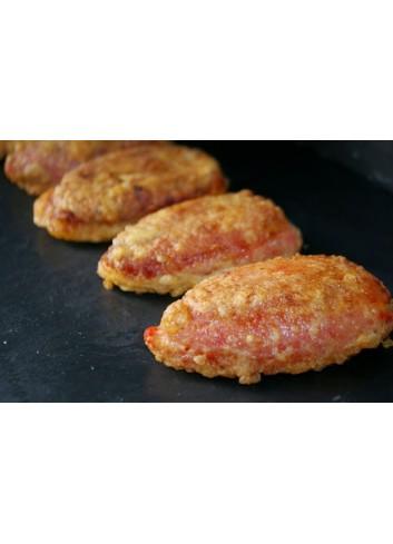 Pimientos rellenos de pollo y bechamel